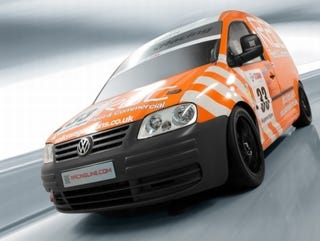 Illustration for article titled VW Caddy TDI Van Competing In Volkswagen Racing Cup!