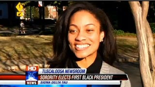 Hannah Patterson was elected first black president of Sigma Delta Tau.Fox 6 News