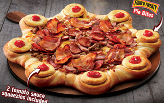 Illustration for article titled Pizza Hut Unleashes Meatstrosity on Unsuspecting Continent