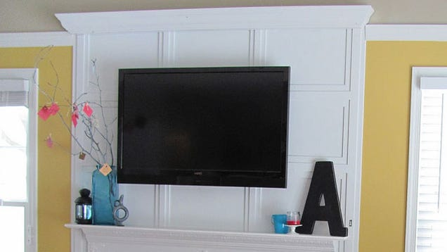 hide tv cords behind wall trim. Black Bedroom Furniture Sets. Home Design Ideas