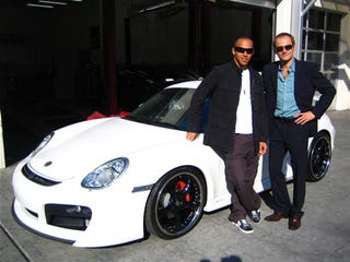 Illustration for article titled Lewis Hamilton Does Los Angeles In A Techart Porsche