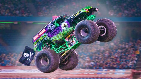 grave digger monster truck driver recovering after serious crash report. Black Bedroom Furniture Sets. Home Design Ideas