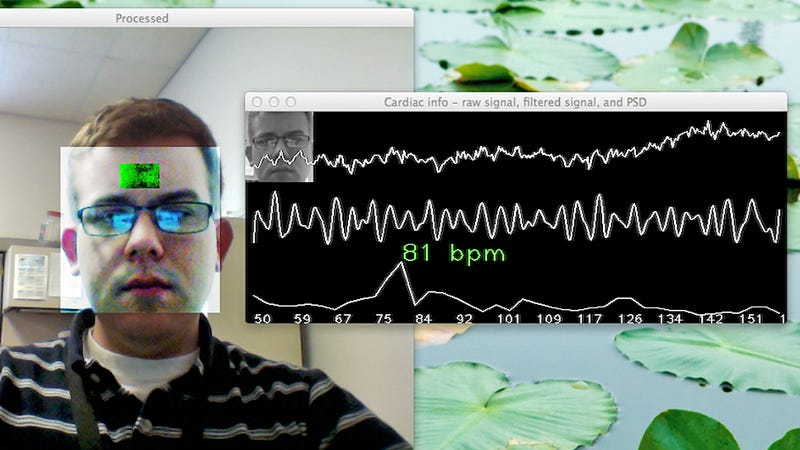 Illustration for article titled Your Web Cam Can See Your Heart Rate, Which Isn't Creepy At All
