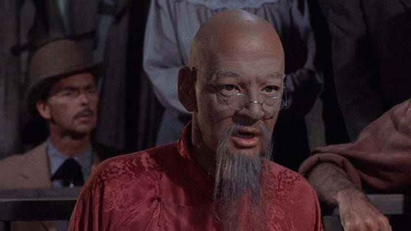 Illustration for article titled 7 Faces Of Dr. Lao: Tony Randall as an old Chinese man and a naked, sexy satyr