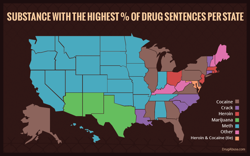 Illustration for article titled Everything You Need to Know About Drug Incarceration Rates Across the US