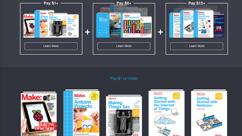 Pay What You Want For A Collection Of Make's Raspberry Pi And Arduino Books