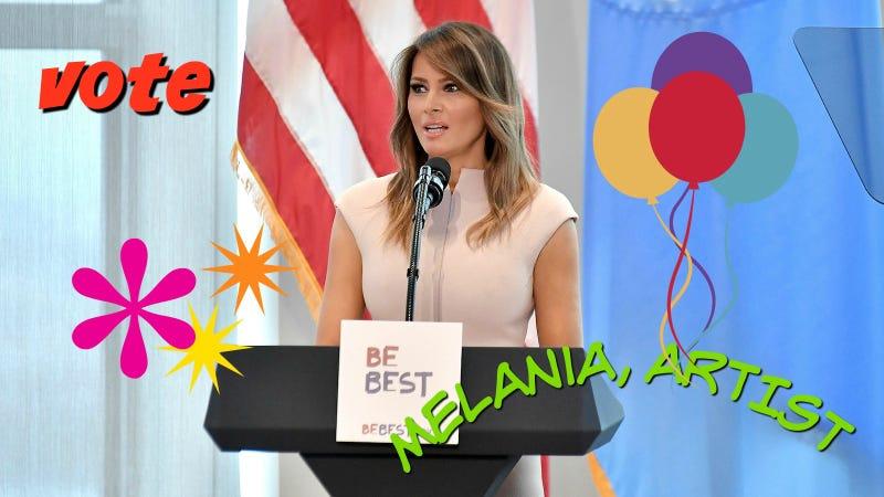 Illustration for article titled Melania Trump, Graphic Designer