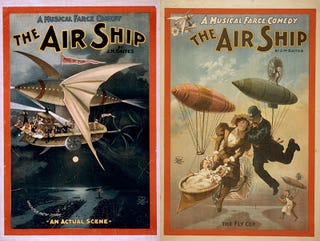Illustration for article titled The Air Ship: A Musical Farce Comedy (1898)
