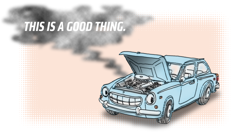 Illustration for article titled To Be Truly Happy, You Need A Funreliable Car