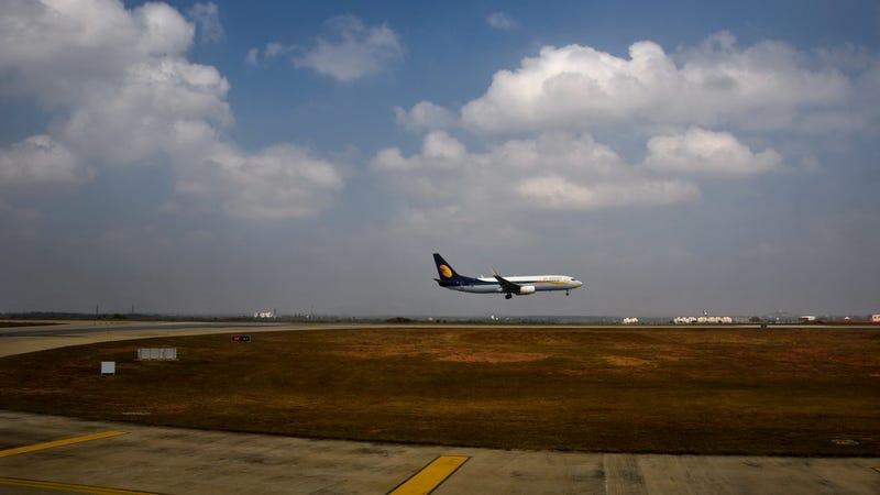 Imagen de archivo de un avión de Jet Airways en la India