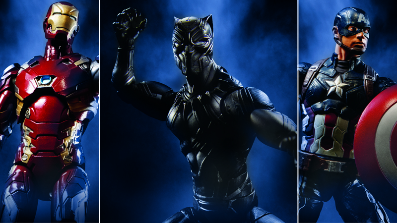 Illustration for article titled Hasbro's Civil War Figures Give Us a Glorious Black Panther