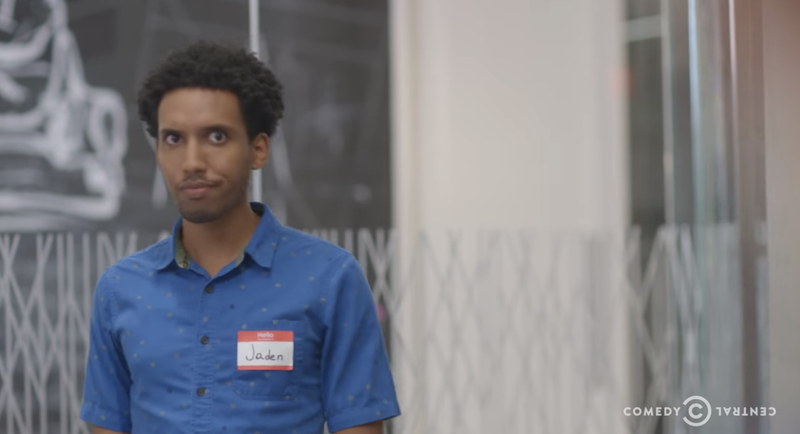 Biniam Bizuneh in his parody Demitrinox antidepressant commercial