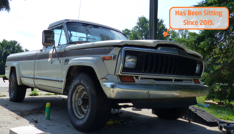 Illustration for article titled I'm In A Mad Dash To Fix My Long-Dead Jeep J10 By Friday's Toledo Jeep Fest