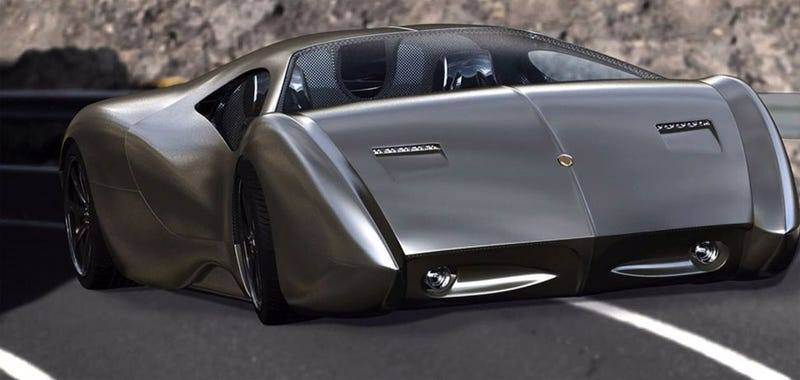 Illustration for article titled Lyons' Bizarre 1700 HP Wireless Hypercar Isn't 'Ready' For The Auto Show