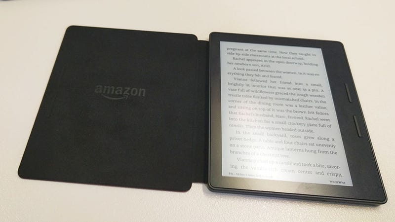 Illustration for article titled What You Need to Know About Amazon's Weird Ass New Kindle Oasis