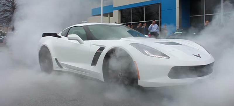 Illustration for article titled Man Picks Up 2015 Corvette Z06, Immediately Does Enormous Smoky Burnout