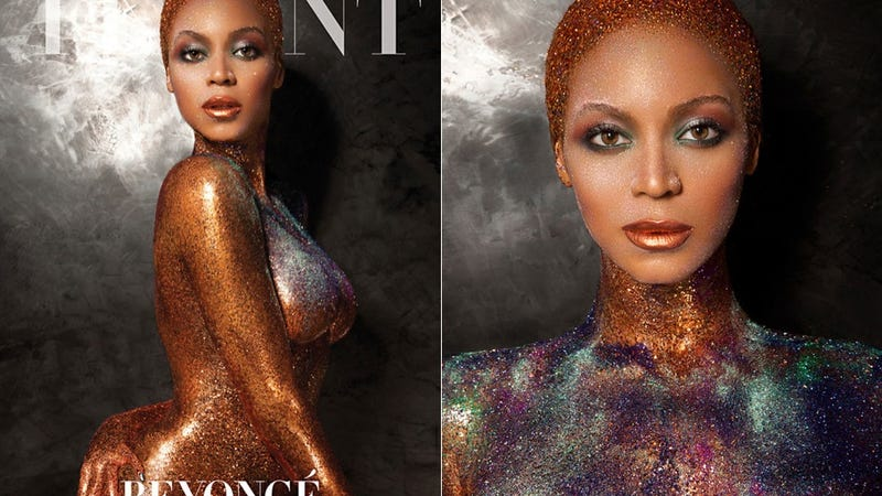 Illustration for article titled Here Is Beyoncé Wearing Nothing But Glitter