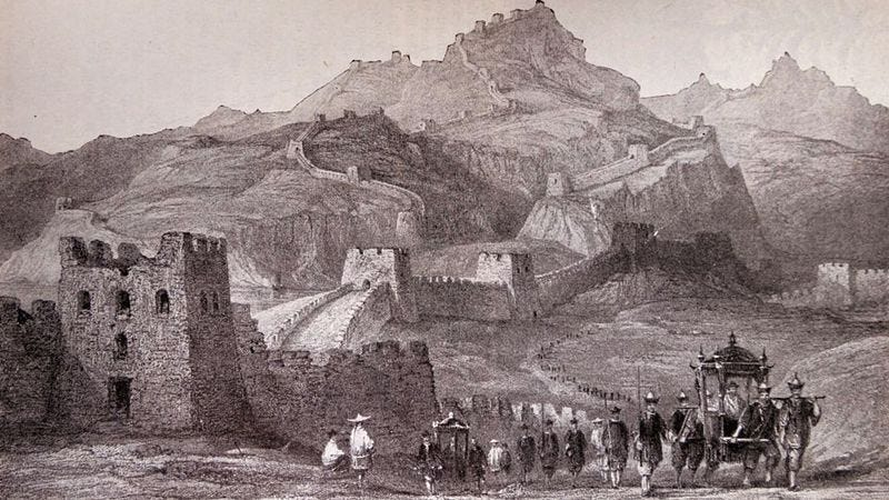 Engraving depicting the Great Wall Of China (Photo: Universal History Archive/UIG via Getty Images)