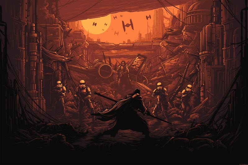 I Am One With The Force, The Force Is With Me by Dan Mumford. Image: Dark Ink Art