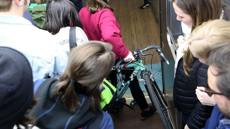Illustration for article titled Bianchi Introduces New Bike For Blocking Commuters On Subway During Rush Hour