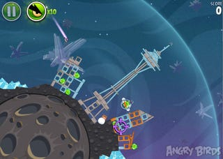 Illustration for article titled Free Space Needle Level Coming To Angry Birds Space