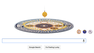 Illustration for article titled Google honors French physicist with interactive pendulum doodle