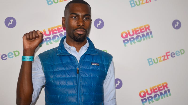 DeRay Mckesson attends BuzzFeed's Inaugural Queer Prom for LGBT Youth in Los Angeles at Siren Studios in Hollywood, Calif., on May 13, 2017. (Chelsea Guglielmino/Getty Images)
