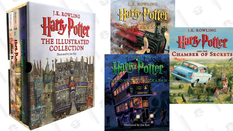 Harry Potter: The Illustrated Collection (Books 1-3 Boxed Set) | $52 | Amazon | Promo code NOVBOOK18
