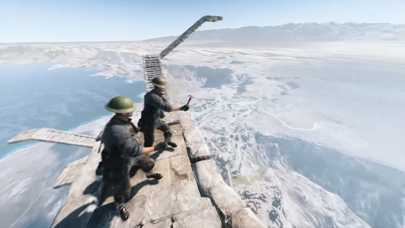 Illustration for article titled New Battlefield V Easter Egg Makes Players Build A Stairway Into The Sky