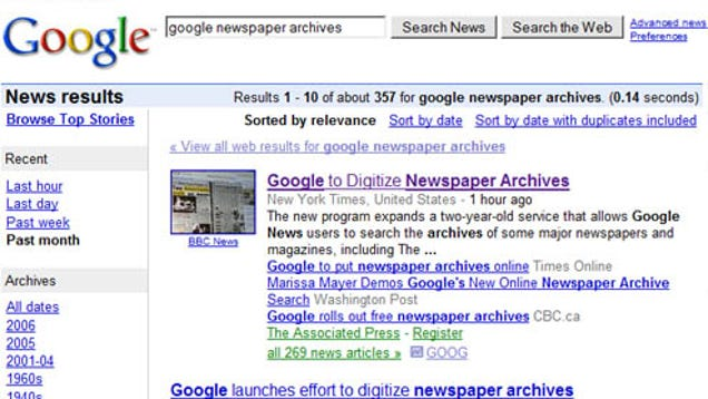 Historical Newspapers in Google News Archive - History ...