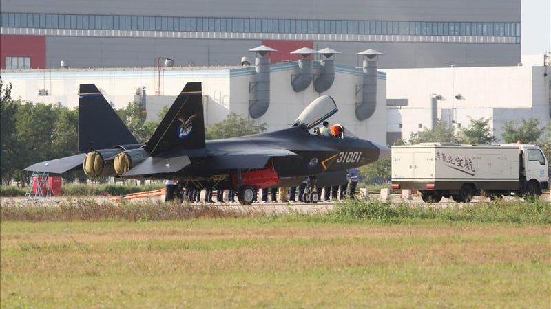 Illustration for article titled Leaked Photos Show a New Chinese Fifth Generation Stealth Jet Fighter