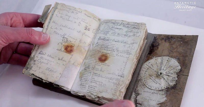 Illustration for article titled Hallan un diario de la expedición Terra Nova perdido hace 100 años