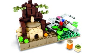 Illustration for article titled A tiny Dagobah with a tinier Yoda is your next Lego Mini-build set