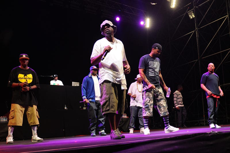 The Wu-Tang Clan perform at the Alfa Romeo City Sound on July 13, 2013, in Milan.