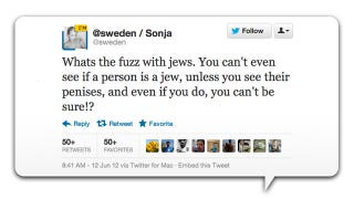 Illustration for article titled Oof! Sonja From Sweden Pulled a Blodget, Asked About the Jews