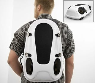 Illustration for article titled Reppo 2 Boombox Backpack, Easy-Carry Portable Music Action