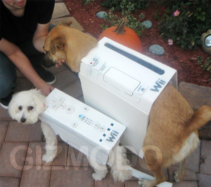 Illustration for article titled Halloween Wii Dogs Make Us Laugh, Shed Single Tear
