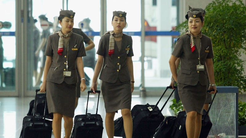 Illustration for article titled South Korean Flight Attendants Fight for the Right to Wear Pants