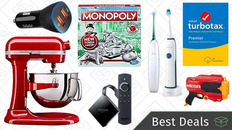 Illustration for article titled Monday's Best Deals: KitchenAid Mixers, TurboTax Software, Hasbro Games, and More