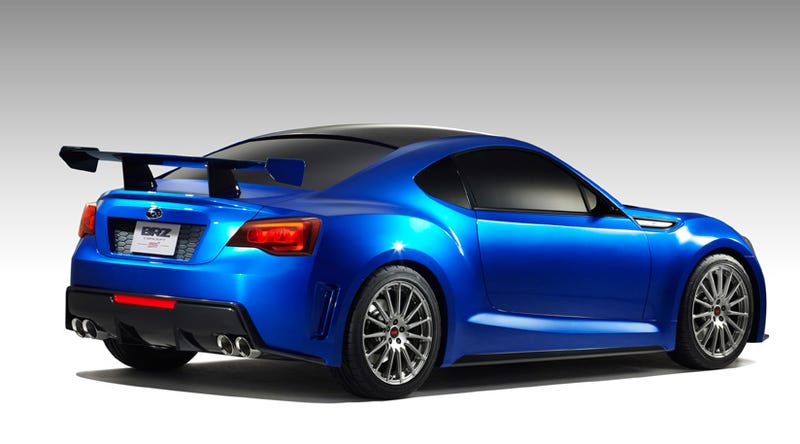 Illustration for article titled Subaru BRZ STI concept gives first look at Subieyota