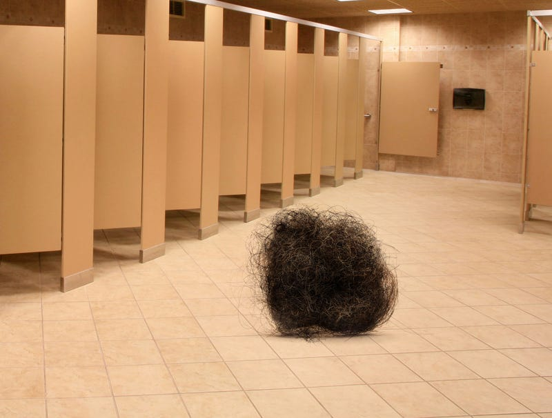 Illustration for article titled Tumbleweed Of Pubes Rolls Through Desolate Dorm Bathroom