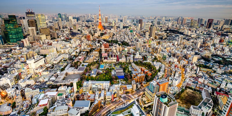 View of Minato-ku, Tokyo, Japan. Image from ShutterStock.