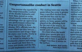 Illustration for article titled 49ers Fans Write Letters Asking That Seattle Fans Stop Being So Loud [Update]