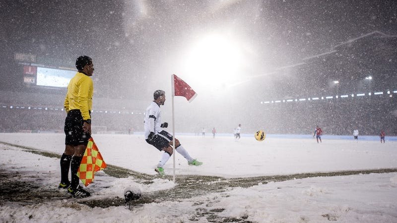 Illustration for article titled Snow Clash: Watching Soccer Get Weird At 5,000 Feet