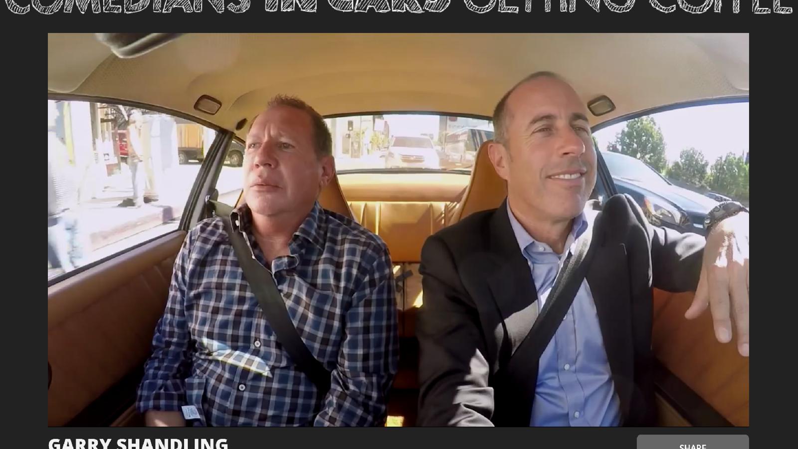 Garry Shandling Dies Leaves Comedians In Cars Episode