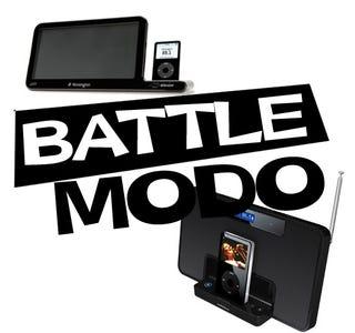 Illustration for article titled iPod Dock Bracket, Kensington SX3000R Vs. Altec Lansing iM600