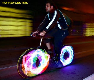 Illustration for article titled Monkeylectric Turns Your Bike Wheel Into a Display While You Ride