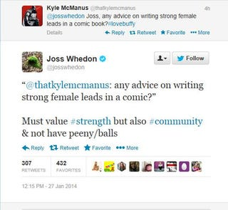 Illustration for article titled Really Joss Whedon? Really?