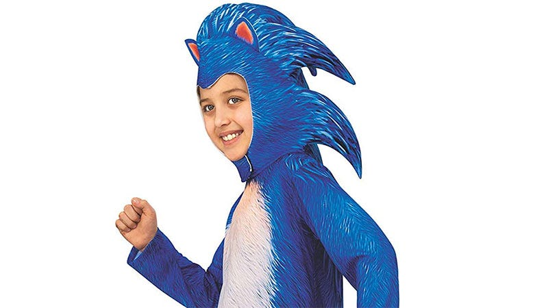 Illustration for article titled Sonic Movie Costume Lets Your Kid's Face Be The Redesign