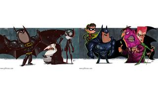 Illustration for article titled The Cartoony Evolution of Batman